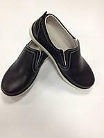 Туфли - мокасины кожаные для мальчика КП-21