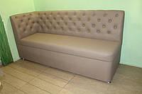 Кухонный мягкий диван лавочка с ящиком для хранения под заказ купить в Киеве (Бежевый)