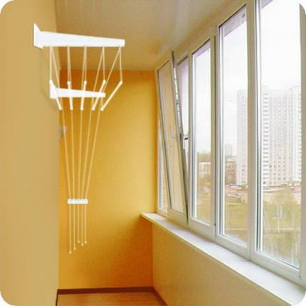 Крепления на стену ( кронштейны) металлические для потолочной сушки на 5 прутьев, Украина, фото 2