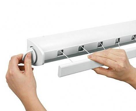 Сушилка для белья на стену с раздвижным механизмом, Prima Nova B23-01, фото 2