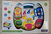 Интерактивный игровой музыкальный столик для малышей свет звук на батарейках в коробке