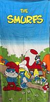 Полотенце детское пляжное Смурфики, 75х150 см