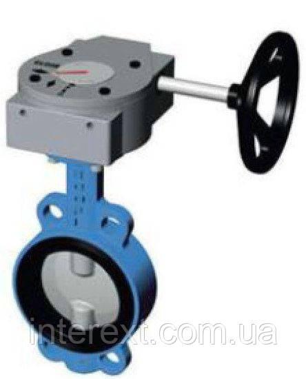 Міжфланцевий затвор Ду400 диск ковкий чавун з редуктором (Tecofi)