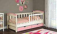 Кровать подростковая для девочки с бортиками 80*190
