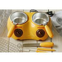 Набор для фондю с двумя чашами Chocolatiere, электрическая фондюшница