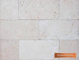Травертин натуральный, состаренная поверхность, размер 203мм/406 мм