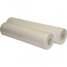 Простыни одноразовые кушеточные в рулоне бумажные (целлюлоза) с перф. Белые, 50м*50см. Германия
