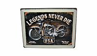 Винтажная табличка Harley-Davidson