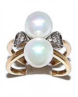 Кольцо фирмы Xuping.Цвет: позолота+родий.  Камни: белый циркон и жемчуг. Есть  17 р. 19 р.  20 р.