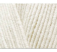 Пряжа Cotton Baby Soft молочный №62 полухлопок для ручного вязания
