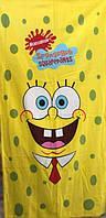 Полотенце детское пляжное Sponge Bob, 75х150 см