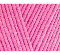 Пряжа Cotton Baby Soft темно-розовый №181 полухлопок для ручного вязания