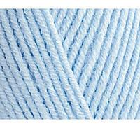 Пряжа Cotton Baby Soft голубой №480 полухлопок для ручного вязания