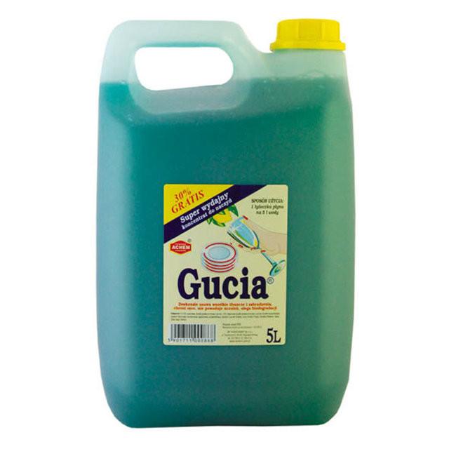 Средство для ручного мытья посуды Gucia 5 л (мята), Wirek (Польша)