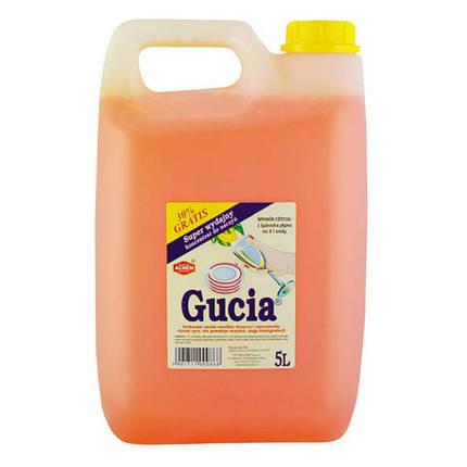 Средство для ручного мытья посуды Gucia 5 л (лимон), Wirek (Польша), фото 2