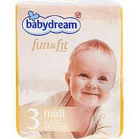 Подгузники Babydream Fun&Fit 3 4-9 кг 64шт. (памперсы Бейбидрим)