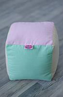 Текстильный детский кубик из натурального материала