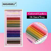 Ресницы NAGARAKU, 8 Цветов