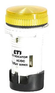 Лампа сигнальна LED матова TT04U1 24 AC/DC жовта