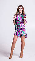 Платье-рубашка из хлопка Р102