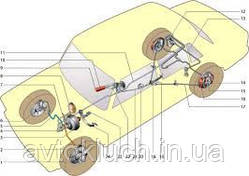 Тормозная трубка на Москвич 412-Передняя правая большая