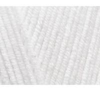 Пряжа Cotton Baby Soft белый №55 полухлопок для ручного вязания