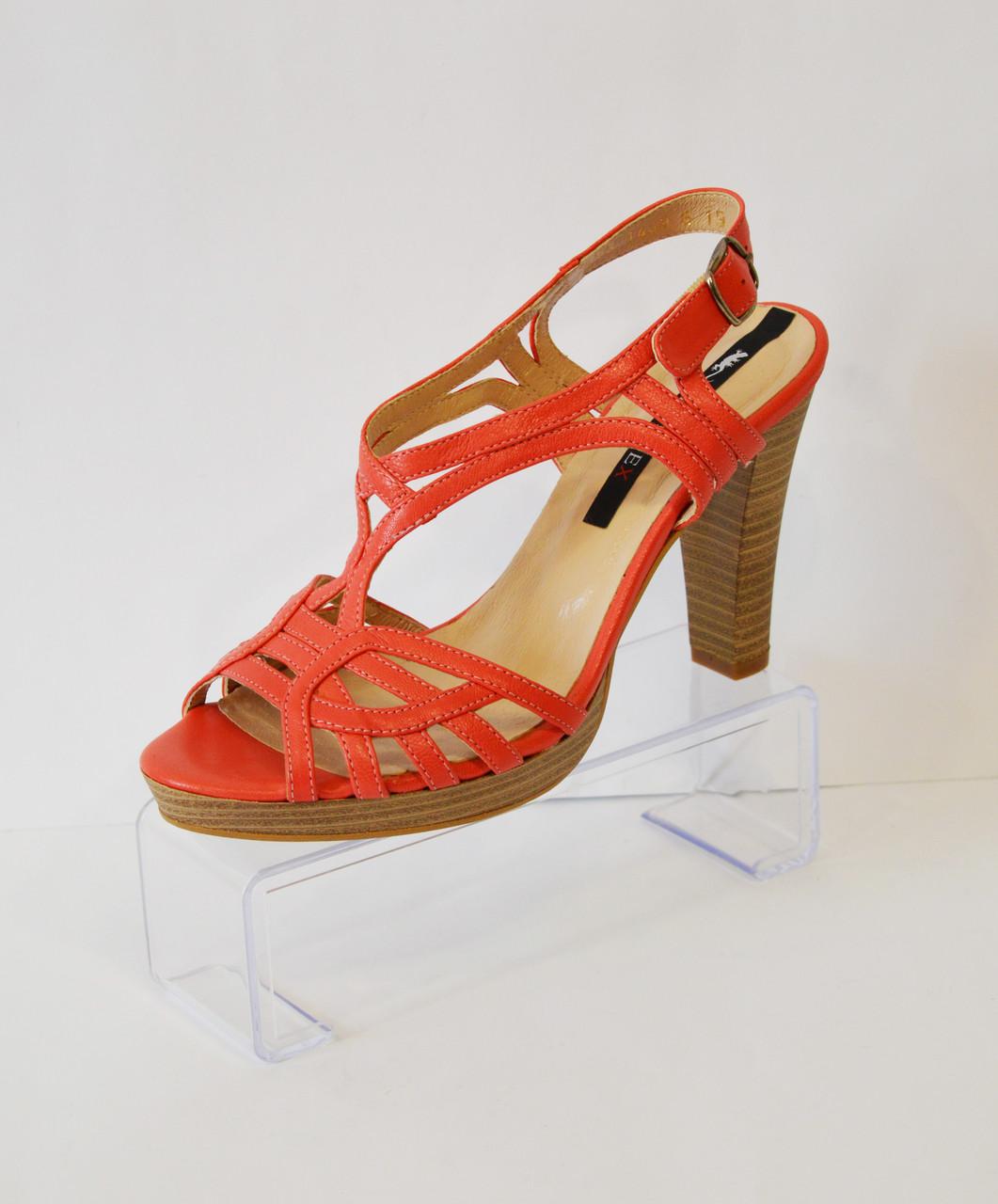 Оранжевые босоножки на каблуке Ann-mex 3953