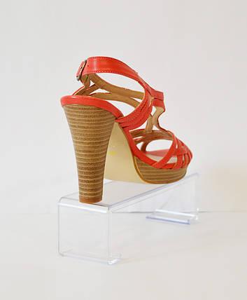 Оранжевые босоножки на каблуке Ann-mex 3953, фото 2