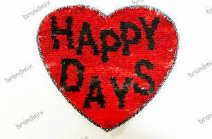 Нашивка пайетка-трансформер Happy Days