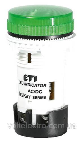 Лампа сигнальная LED матовая TT02X1 240V AC зеленая