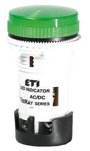 Лампа сигнальна LED матова TT02X1 240V AC зелена