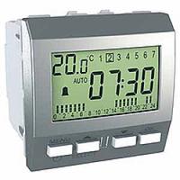 Цифровой будильник Алюминий 24ч-7д серия Schneider Electric Unica (MGU3.545.30)