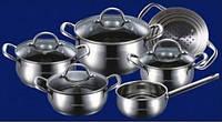 Набор посуды из нержавеющей стали Bohmann (10 пр.)