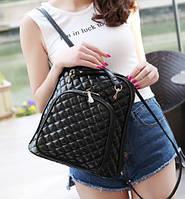 Рюкзак женский из кожзама стеганный Lina сумка