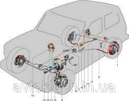 Трубка тормозная НИВА-Передняя левая большая