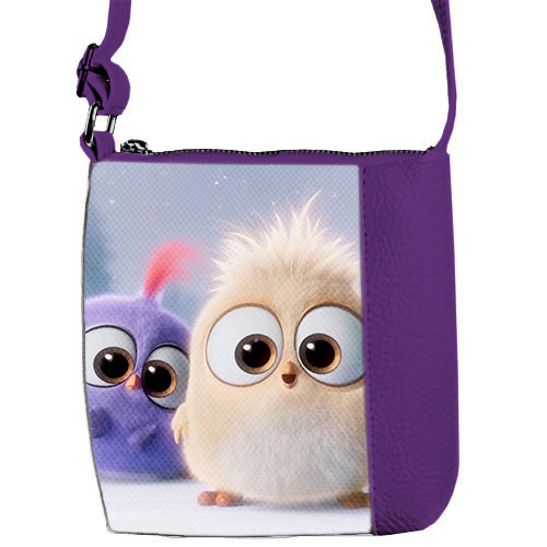 Фиолетовая сумка для девочки Mini Missс принтом Птички