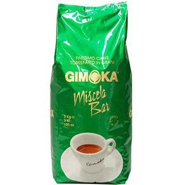 Кофе из Италии в зернах Gimoka Miscela Bar (Джимока зеленая), темно средней обжарки, Оригинал, 3кг