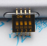 Переключатель SMD 4P DSHP04TSGER 1.27 мм