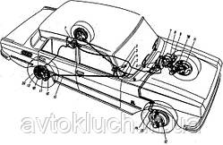 Тормозная трубка на Москвич 2140-Передняя правая большая