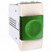 Индикатор 1 модуль Schneider Electric Unica индикация Зеленая цвет Слоновая кость MGU3.775.25V