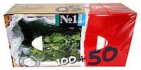 Платочки бумажные Bella № 1 Мята Универсальные двухслойные 100+50 - 150 шт.