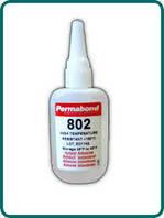 Клей цианокрилатный Permabond C802 (высокотемператный, t=+160C, низкая вязкость, 5-20 секунд)