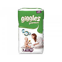Подгузники Giggles Premium 3 (Midi 4-9 кг) 48 шт. (памперсы Гиглс премиум)