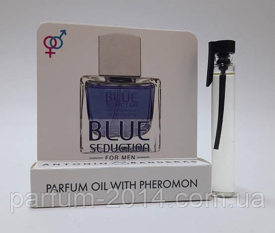 Масляные духи с феромонами Blue Seduction Antonio Banderas 5 ml (реплика), фото 2