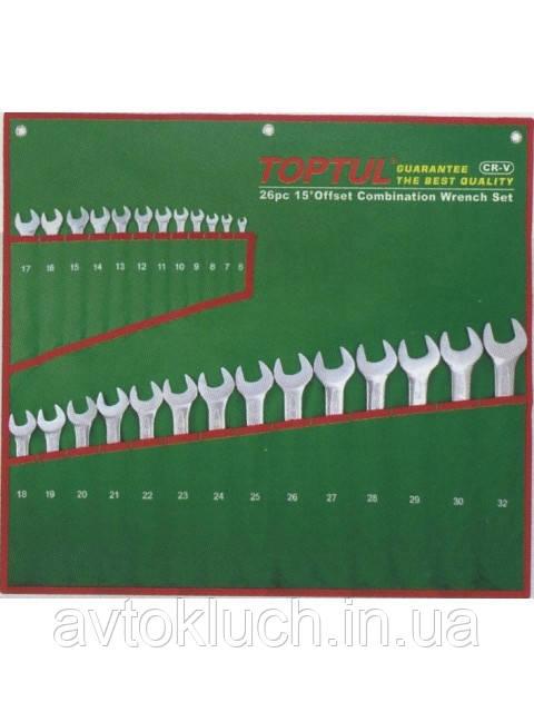 Набір ключів комбінованих 26 шт. 6-32 (полірованих)