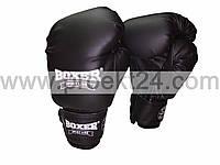 Боксерские перчатки 10 оz Кожвинил (черные)