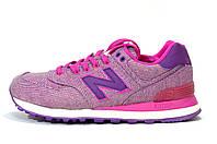 Женские New Balance WL574 GPK Pink glow кроссовки Нью Баланс 574 розовые
