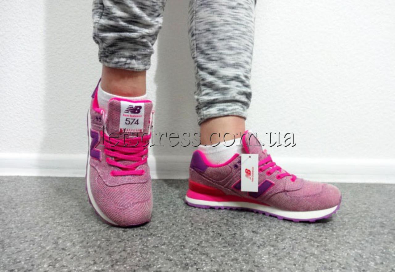 ... Женские New Balance WL574 GPK Pink glow кроссовки Нью Баланс 574  розовые, фото 10 9f6b83052e2