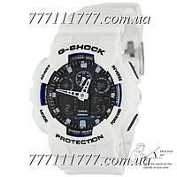 Часы женские наручные Casio G-Shock AAA GA-100 White-Black Autolight