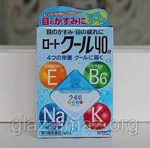 Капли для глаз увлажняющие из Японии Rohto Cool 40α натуральная слеза, фото 3